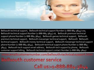 Bellsouth technical support 1-888-884-3844 Bellsouth Customer service number