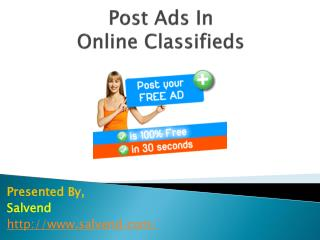 Post Ads in Online classifieds