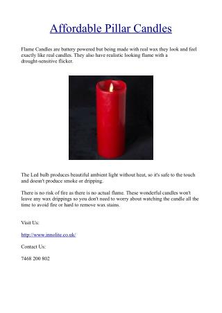 Affordable Pillar Candles