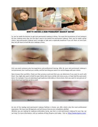 How to Choose a Semi-Permanent Makeup Artist