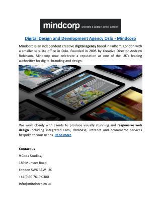 Digital Design and Development Agency Oslo - Mindcorp