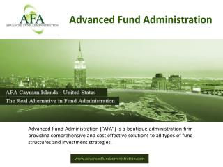 AFA  is a leading name in providing all types of Fund Administration Services