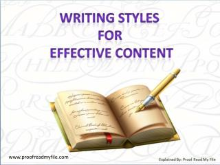 Writing Styles for Effective Content