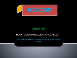 HOW TO LEARN BLACK MAGIC SPELLS