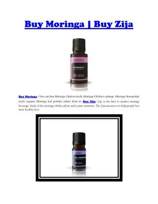 Buy Moringa | Buy Zija