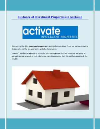 Investment Properties Adelaide