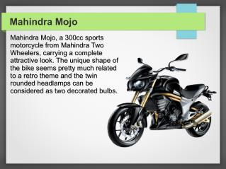 Mahindra MoJo Bike Reviews