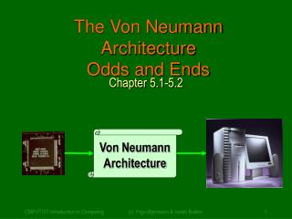 The Von Neumann Architecture Odds and Ends