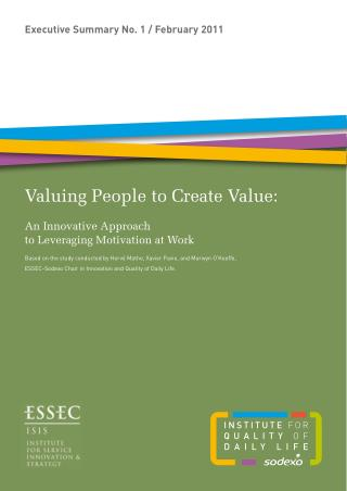 Valuing People to Create Value