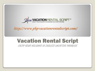 Vacation Rental Script by Eicra Soft