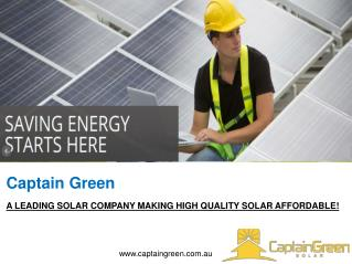 Captain Green - A Leading Solar Company Making High Quality Solar Affordable!