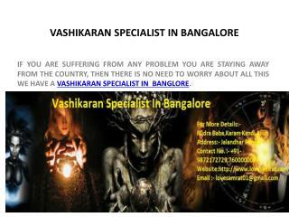 Vashikaran Specialist In Bangalore