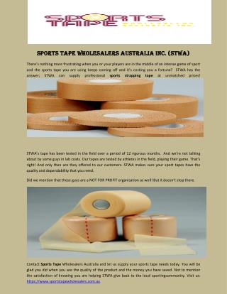 Sports Tape Wholesalers Australia Inc. (STWA)