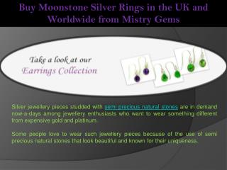 Buy Moonstone Silver Rings in the UK and Worldwide from Mistry Gems