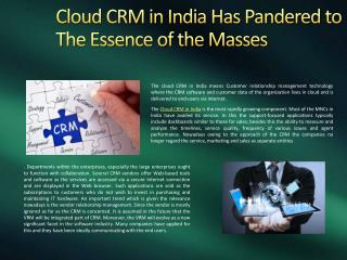 Cloud CRM in India, Marketing Automation CRM