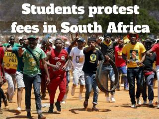 Students protest fees in South Africa