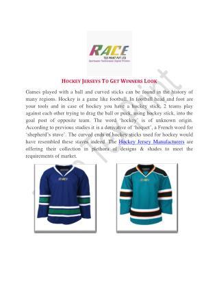 Hockey Jerseys To Get Winners Look