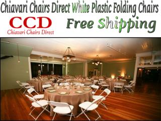 Chiavari Chairs Direct - Free Shipping White Plastic Folding Chairs