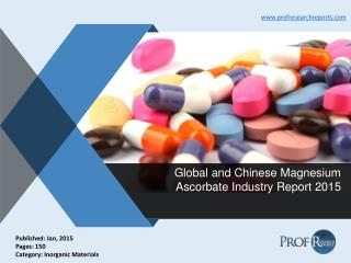 Magnesium Ascorbate Industry Growth, Market Share 2015 | Prof Research Reports
