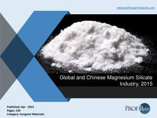 Magnesium Silicate Industry Analysis, Market Growth 2015 | Prof Research Reports