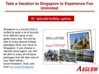 Take a Vacation to Singapore to Experience Fun Unlimited !