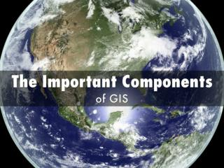 The Important Components of GIS