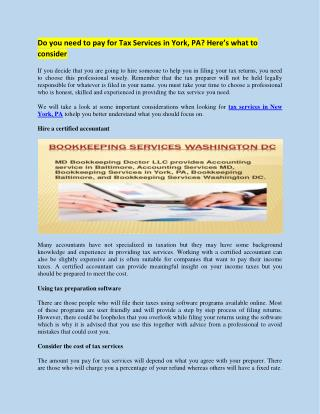 Bookkeeping Services Washington DC