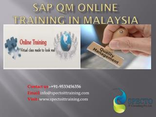 Sap qm online training and certification