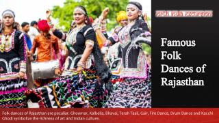Famous Rajasthani Folk Dances
