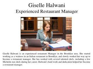 Giselle Halwani Experienced Restaurant Manager