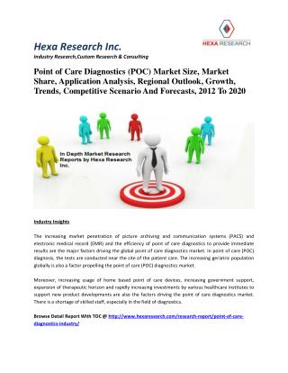 Point of Care Diagnostics (POC) Market Size, Market Share, Application Analysis, Regional Outlook, Growth, Trends, Compe