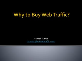 Advantages For Buying Web Traffic