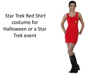 Star Trek Red Shirt costume for Halloween 2015