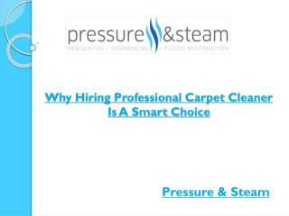 Why Hiring Professional Carpet Cleaner Is A Smart Choice