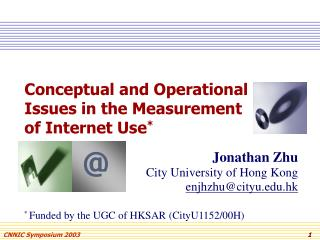 Conceptual and Operational Issues in the Measurement of Internet Use