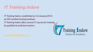 Need for industrial training in Indore- IT Training Indore