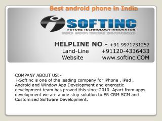 mobile app services in india