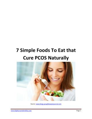 7 Simple Foods To Eat that Cure PCOS Naturally