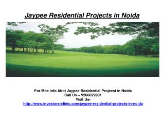 Buy Property -Jaypee Residential Projects in Noida@92666629901