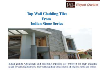 Top Wall Cladding Tiles from Indian sand stone