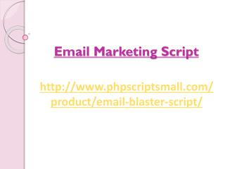 Email Marketing Script