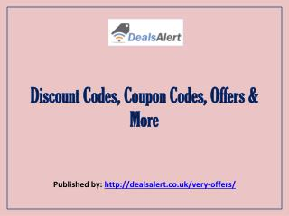 Discount Codes, Coupon Codes, Offers & More