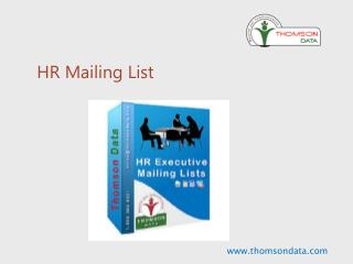 HR Mailing List - Human Resource Executives List - HR Email List
