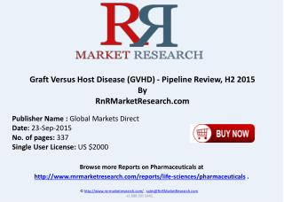 Graft Versus Host Disease Pipeline Comparative Analysis Review H2 2015