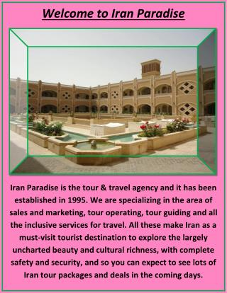 Offer Iran Hotels with Great Rooms and Prices