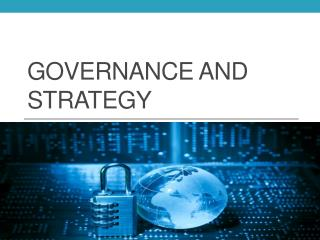 Governance and Strategy