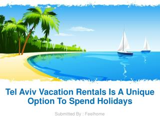 Tel Aviv Vacation Rentals Is A Unique Option To Spend Holidays