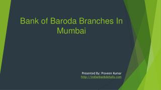 Bank of Baroda branches in Mumbai
