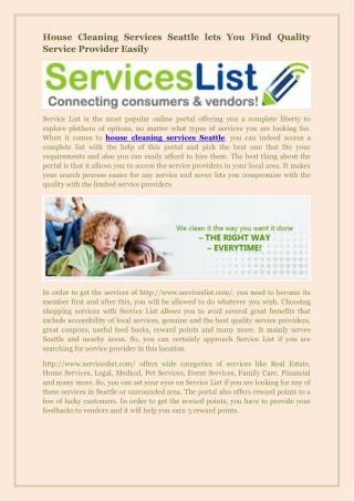 House Cleaning Services Seattle lets You Find Quality Service Provider Easily.pdf