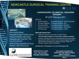 NEWCASTLE SURGICAL TRAINING CENTRE